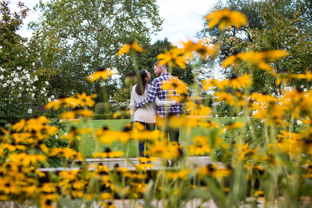 September engagement session with Black Eyed susans