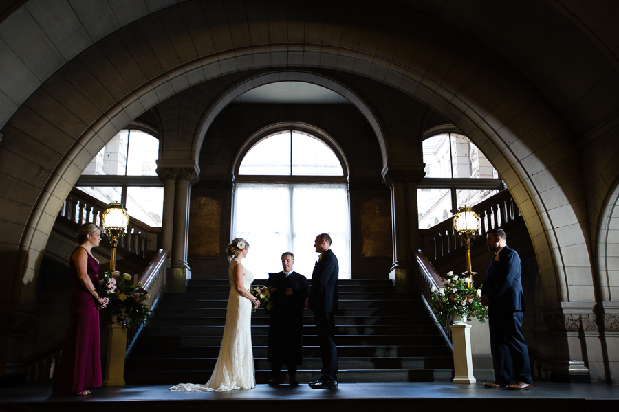 Intimate Courthouse Wedding Pittsburgh