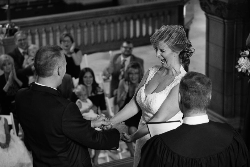 Happy Bride at Pittsburgh Courthouse Wedding