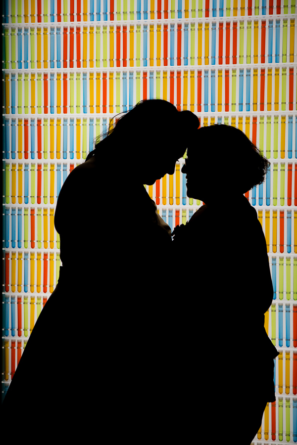 Silhouette of Two Brides at the Heinz History Center