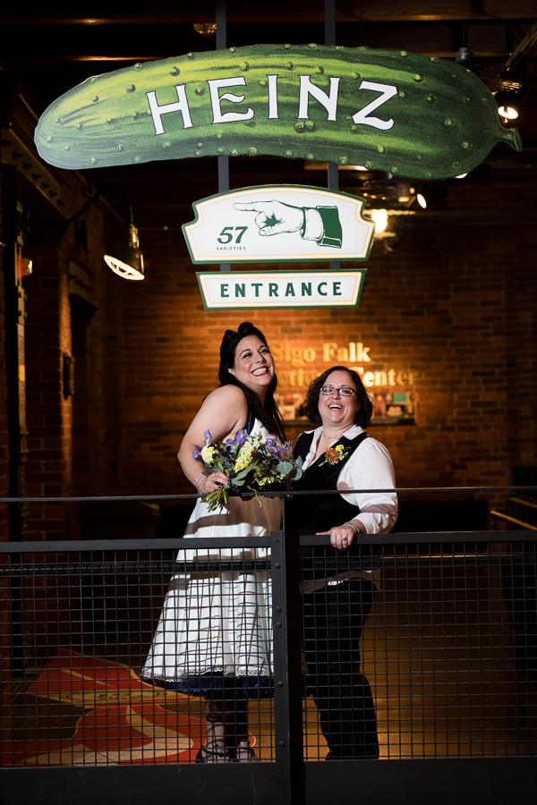 Two Brides Under the Heinz Pickle