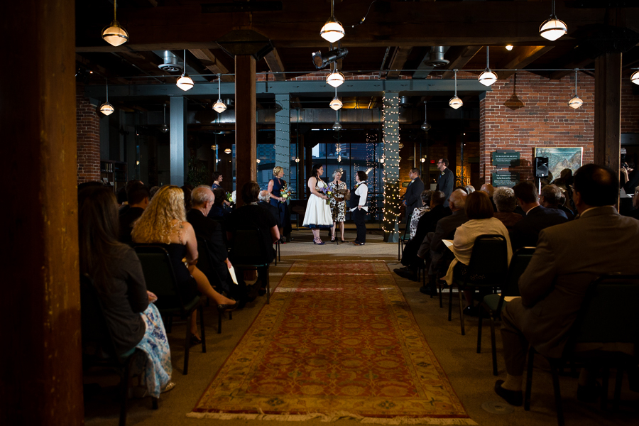 Same Sex Wedding Ceremony at the Heinz History Center Library & Archives Room