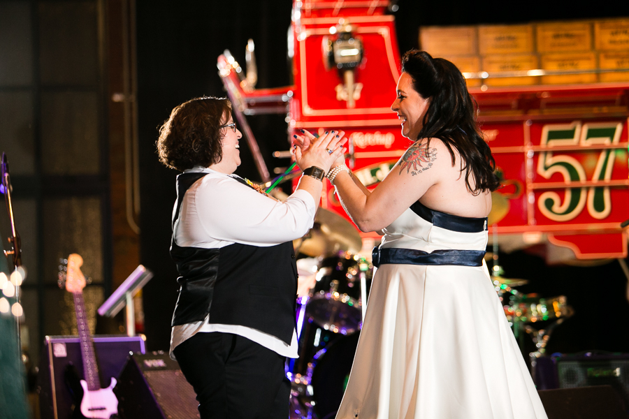 Fun Upbeat First Dance for Two Brides at Heinz History Center
