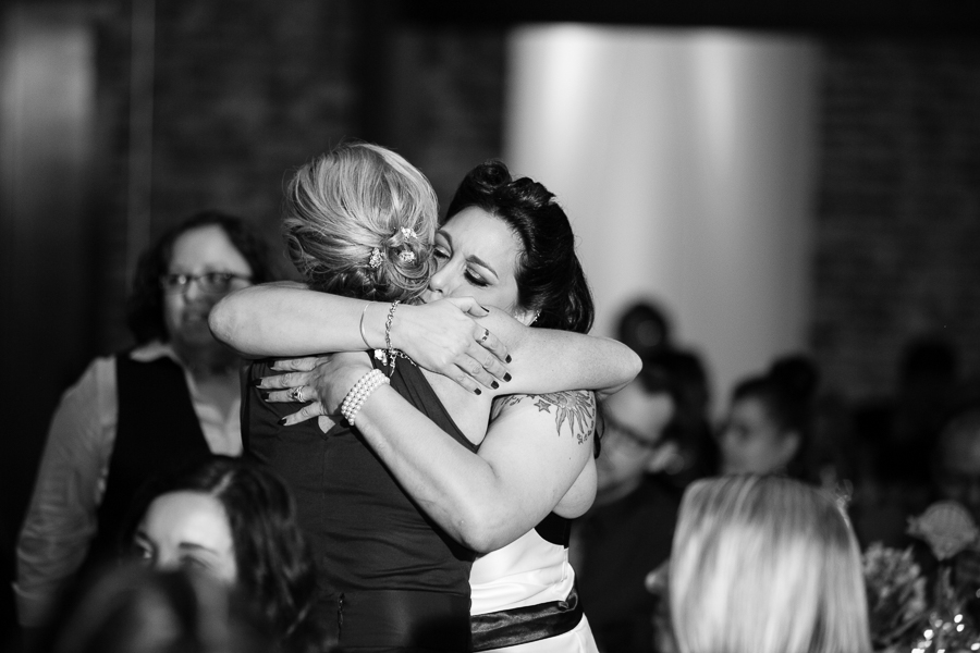 Bride Hugs Her Maid of Honor