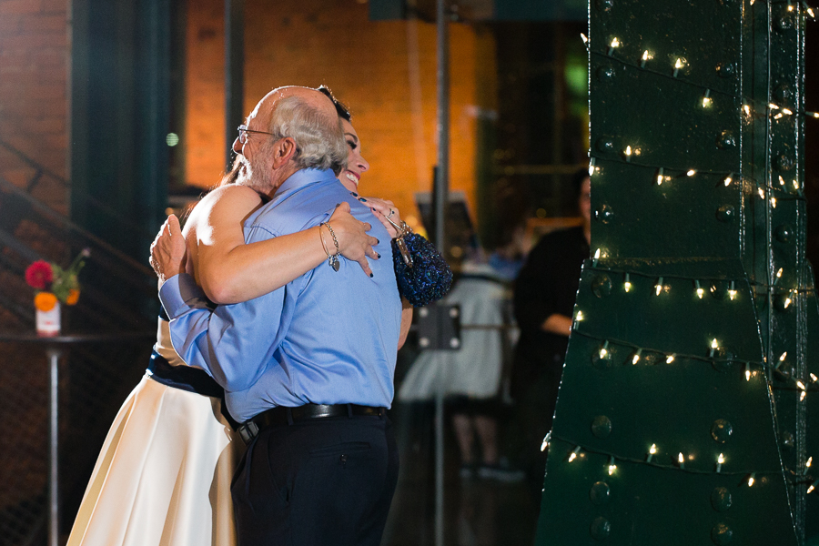 Bride Hugs Her New Father-in-Law