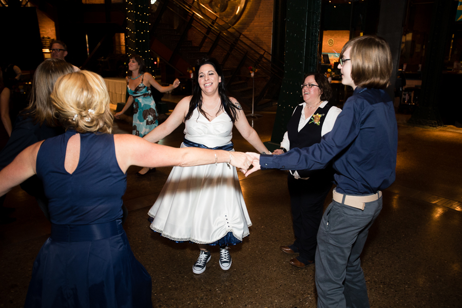 Brides Dancing at their Wedding Reception