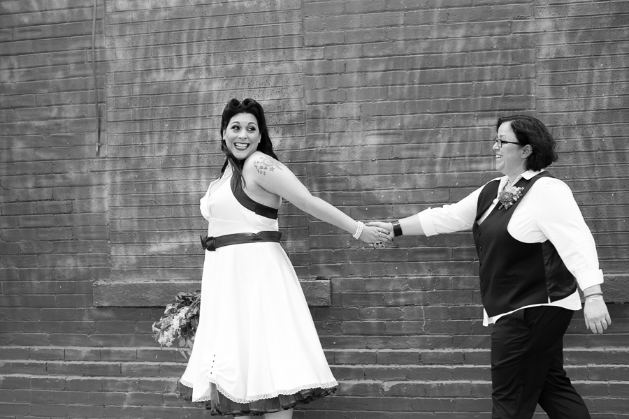 Same Sex Couple in Pittsburgh's Strip District Before their Wedding