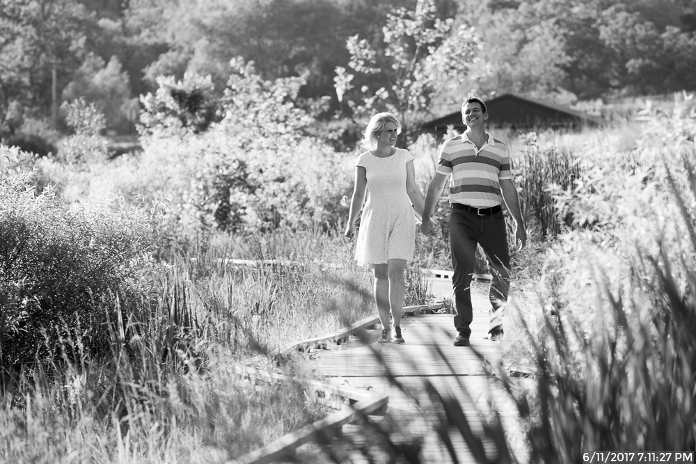 Summer Engagement Session in North Park Wetlands