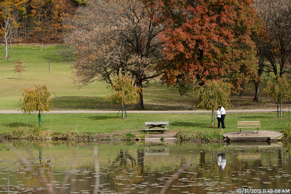 Engagement Photos by the North Park Lake