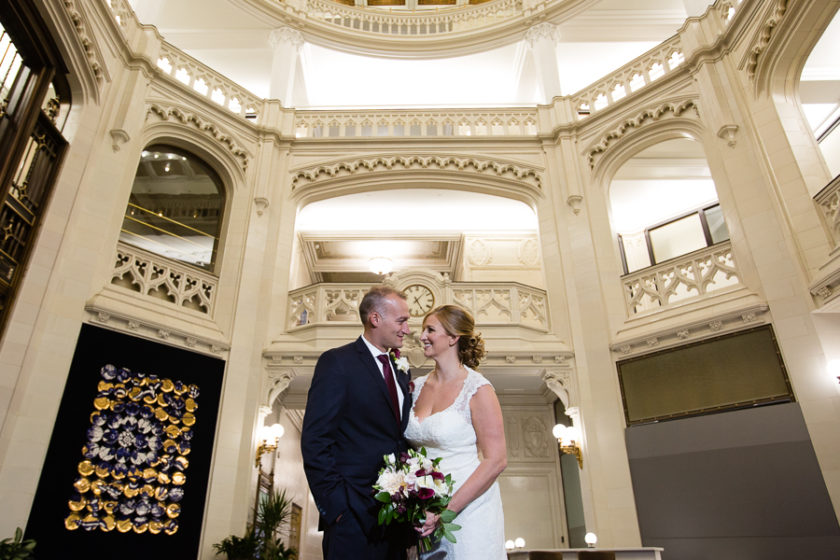 Wedding Photos - Pittsburgh Union Trust Building - Elaborate Architecture