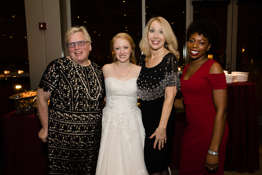 Heinz History Center Event Coordinators Susie, Cara Nagel, Maura Minteer and Daniella Greeman at Cara's Wedding