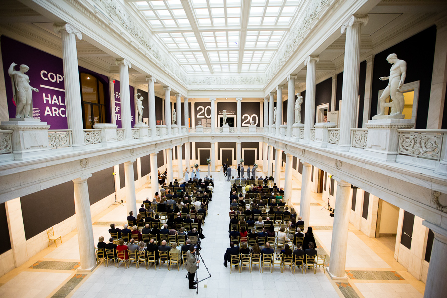 Carnegie Museum Hall of Sculpture Wedding Ceremony
