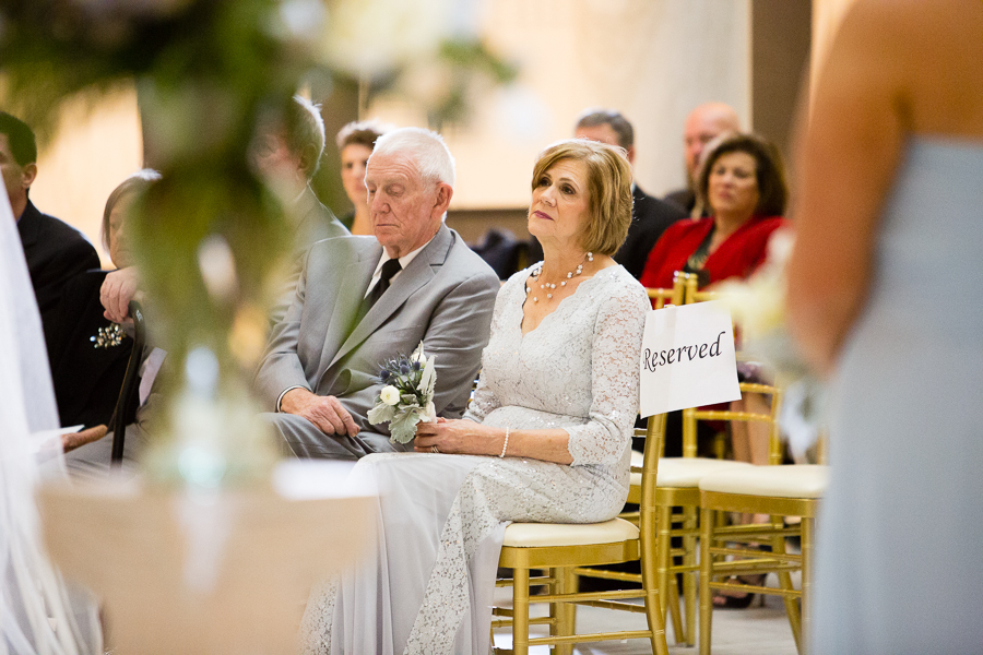 Mother of the Groom During Ceremony with Gold Chiavari Chairs