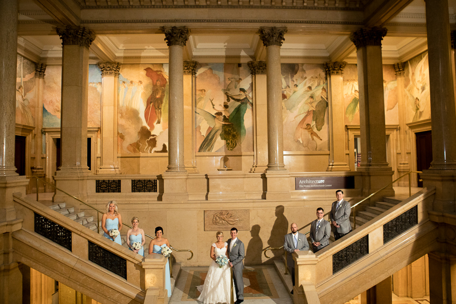 Bridal Party at the Carnegie Museum Grand Staircase