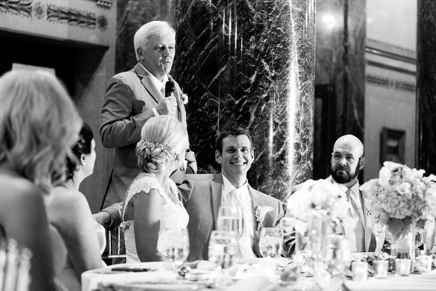 Hilarious Father of the Bride Speech at the Carnegie Music Hall Foyer Pittsburgh