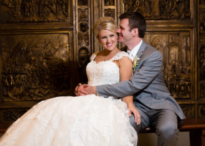 Blue and White Winter Wedding Details at the Carnegie Museum