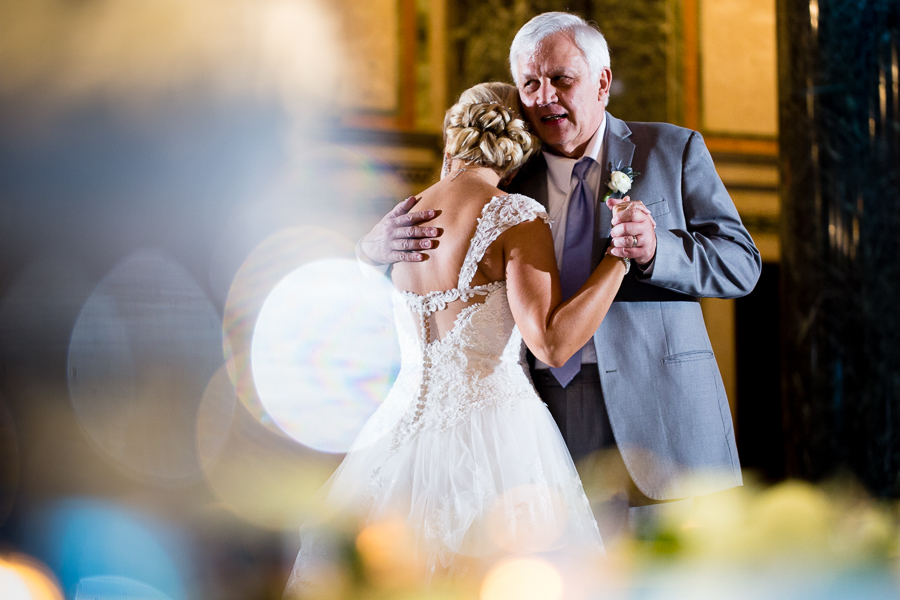 Father Daughter Dance at Carnegie Music Hall Foyer Wedding