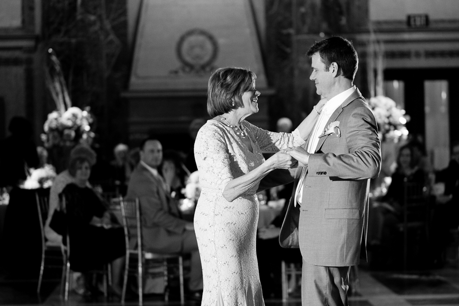 Mother Son Dance at Carnegie Museum Wedding