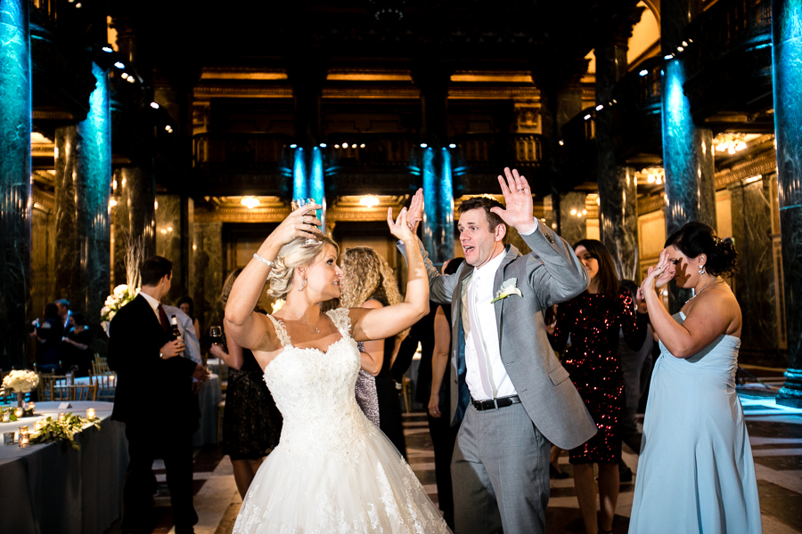 Bride and Groom Dancing at their Carnegie Music Hall Foyer Reception