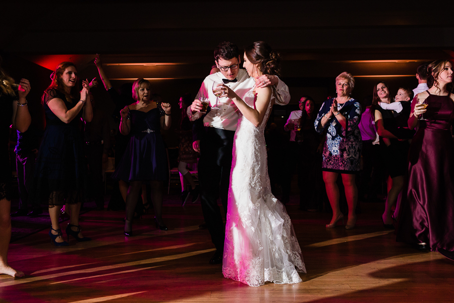 Bride and Groom Dancing at Chestnut Ridge Golf Resort Wedding Photos
