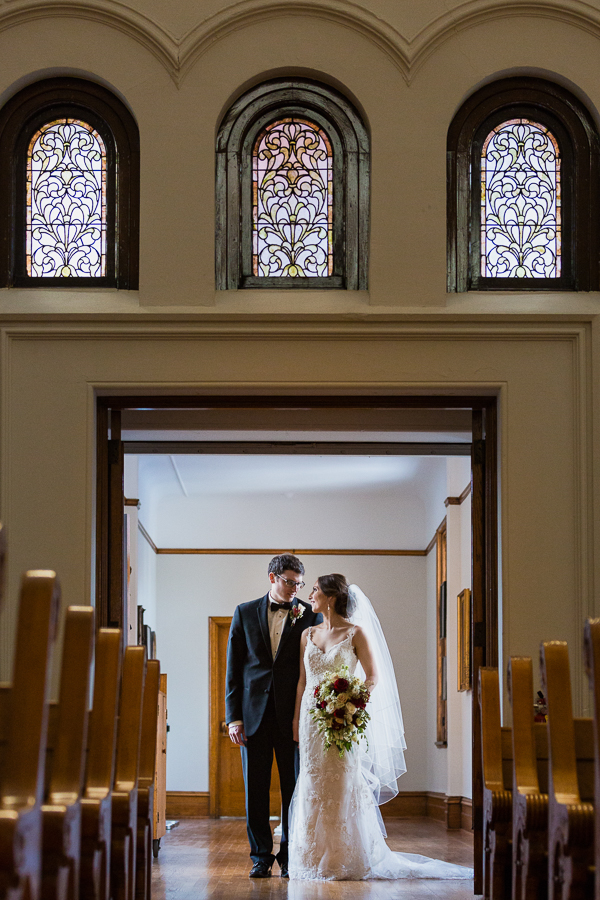 Happy Bride and Groom at Seton Hill University Wedding Photography-18