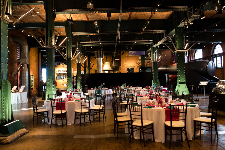Wedding Reception in the Great Hall at the Heinz History Center Pittsburgh