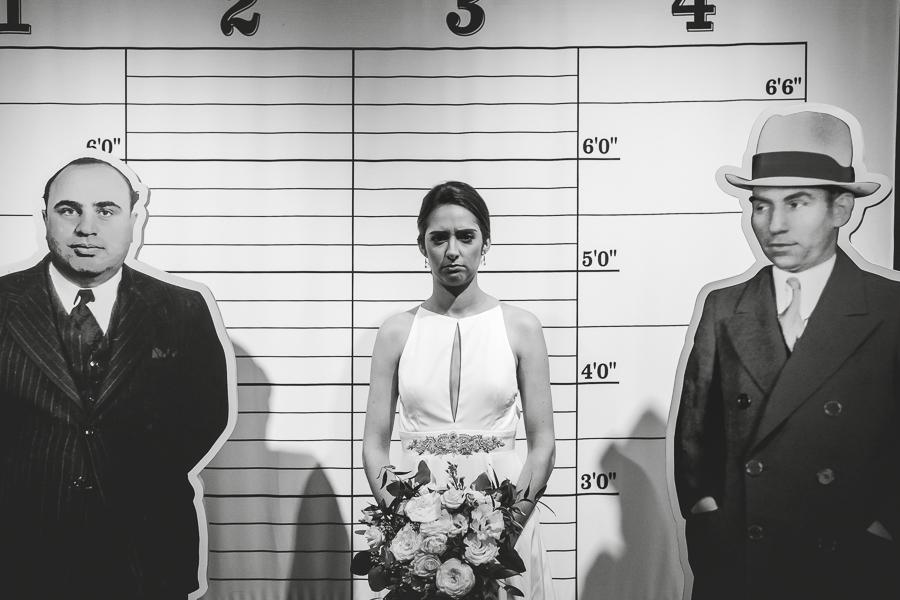 Bride mugshot at Heinz History Center Prohibition Exhibit