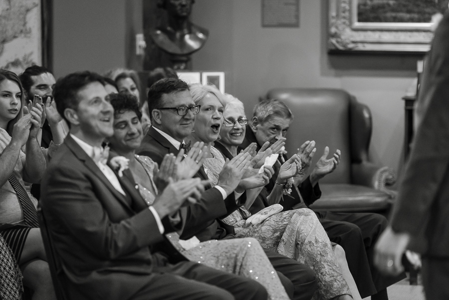 Parents of the Bride Clapping at Heinz History Center LIbrary