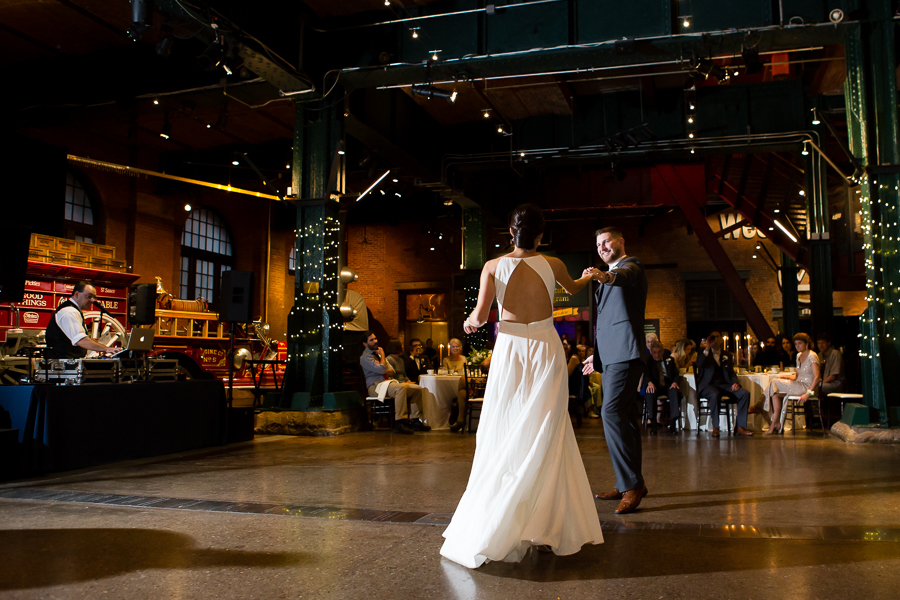 Bride and Groom First Dance at Heinz History Center Great Hall