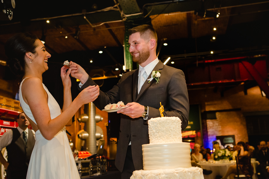 Bride and Groom Cake Cutting at Heinz History Center