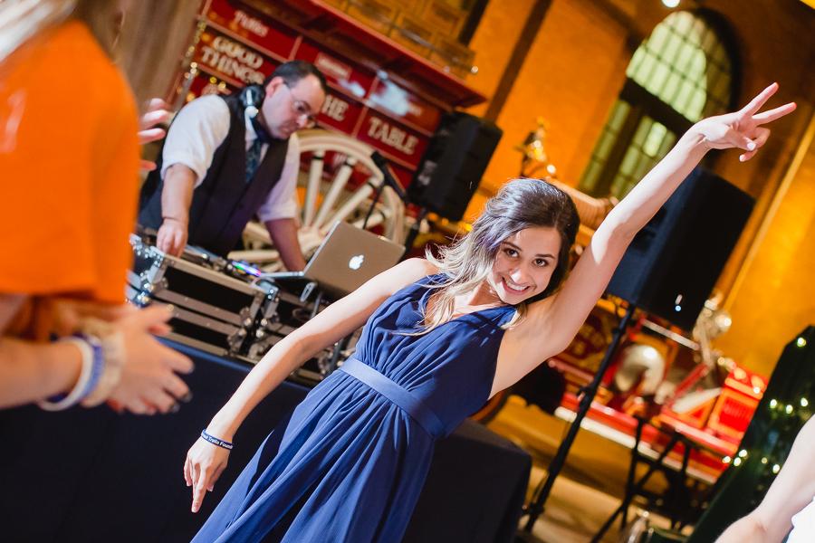 Bridesmaid Dancing at Wedding Reception Heinz History Center