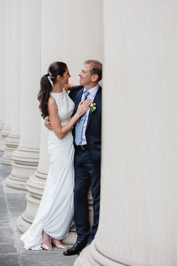 Bride and Groom at May Wedding at Mellon Institute Pittsburgh