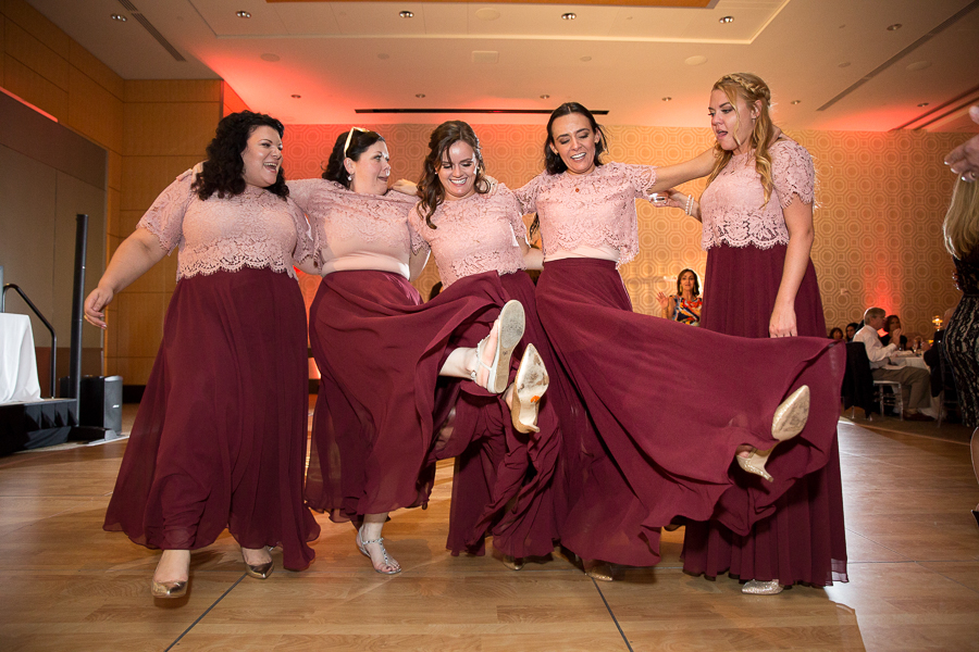 Bridesmaids at Fairmont Pittsburgh Hotel Wedding Reception