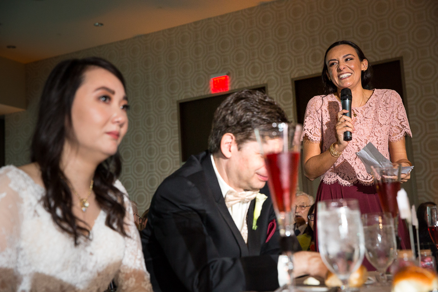 Speeches at Fairmont Hotel Pittsburgh Wedding
