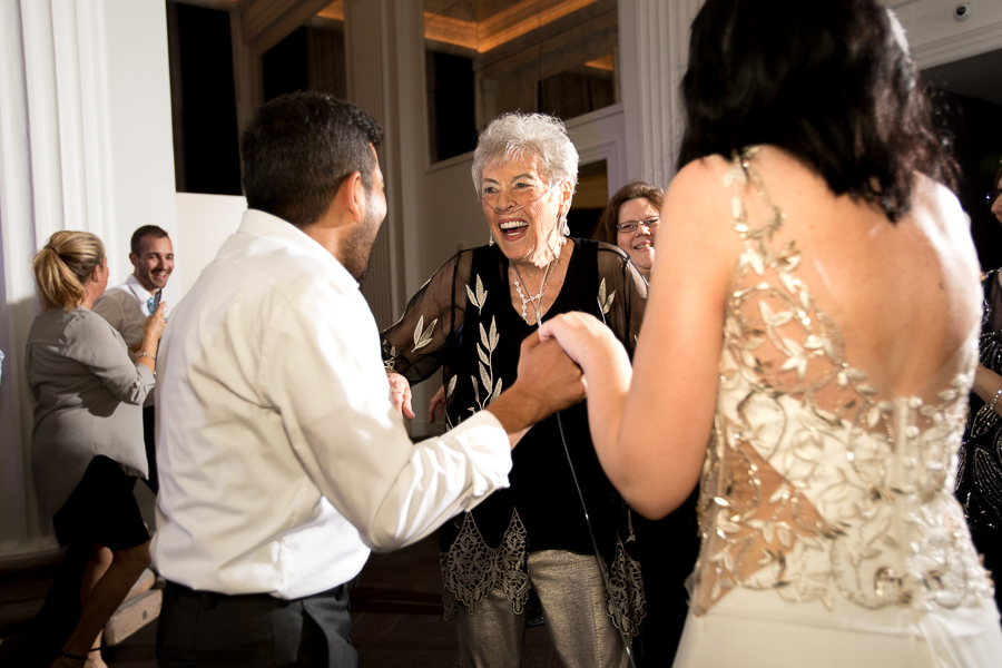 Aunt Dancing with Bride and Groom at Hotel Monaco Pittsburgh