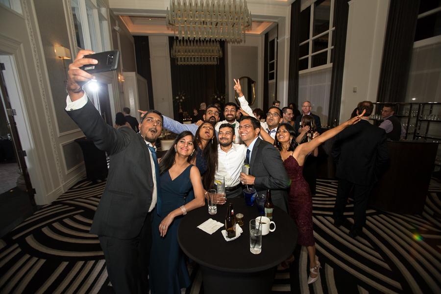 Big Group Selfie at Hotel Monaco