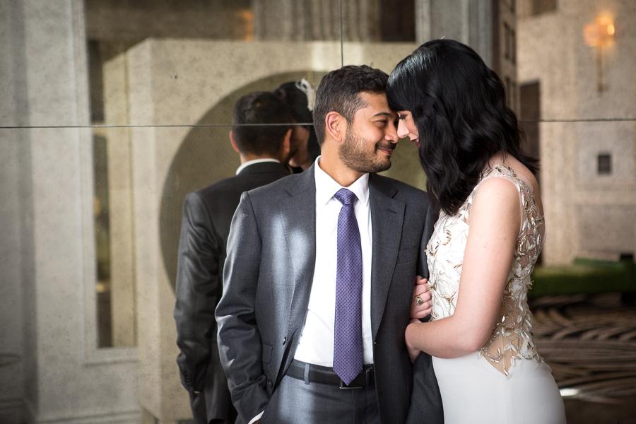 Bride and Groom Wedding Photos at Kimpton Hotel Monaco Pittsburgh