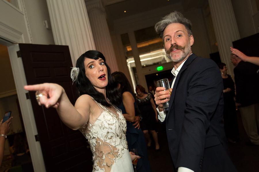 Guest with Bride at Hotel Monaco