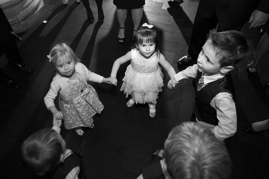 Kids Dancing in Hotel Monaco Foyer