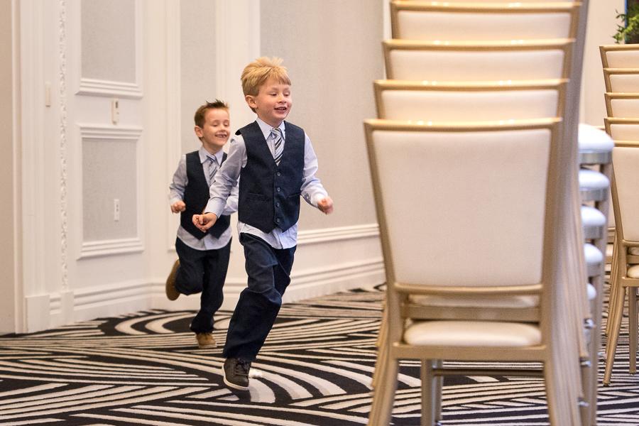 Kids Playing at Kimpton Hotel Monaco Pittsburgh Wedding
