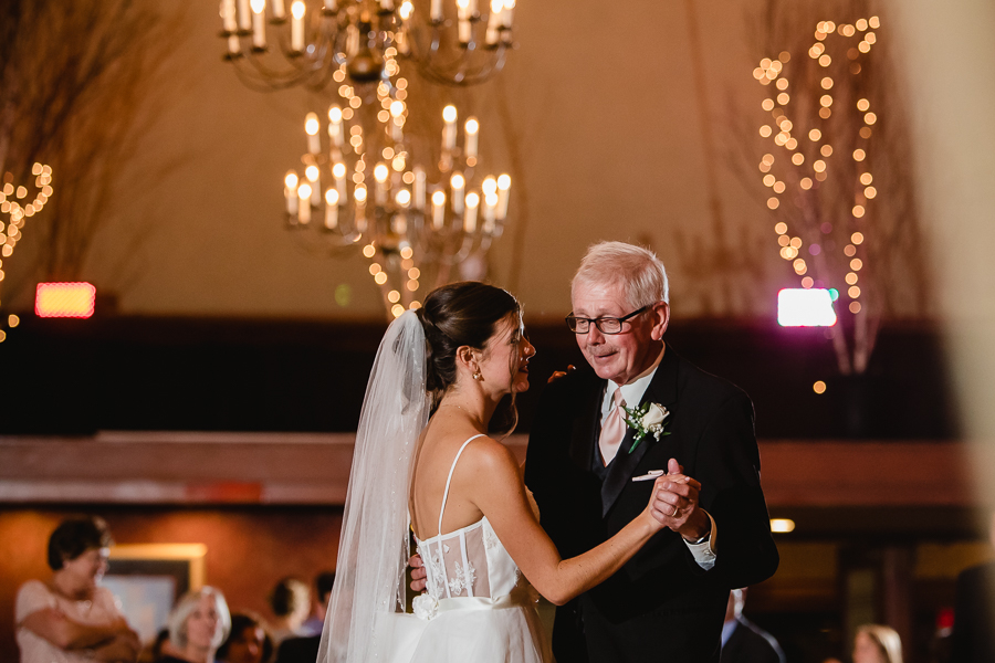 Father Daughter Dance at Edgewood Country Club Wedding