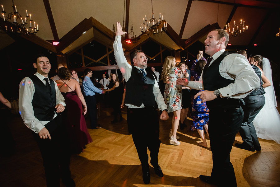 Dancing at the Reception at Edgewood Country Club