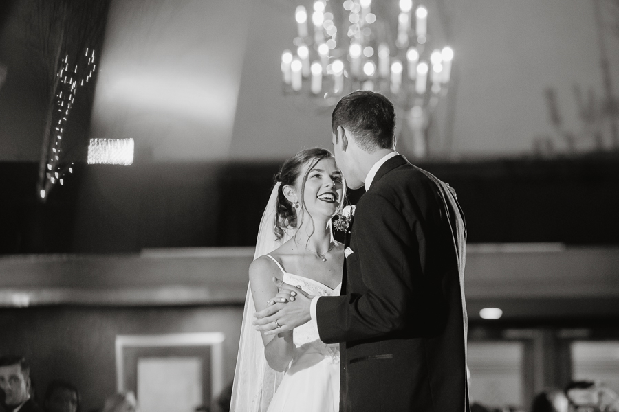 Bride and Groom First Dance at Edgewood Country Club Wedding