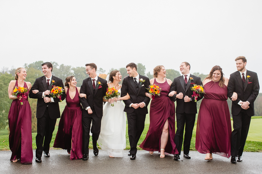 Bridal Party on the Golf Course at Edgewood Country Club