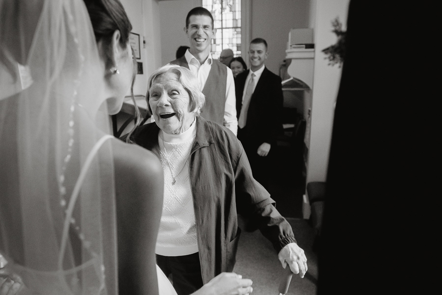Happy Grandma at Granddaughter's Wedding