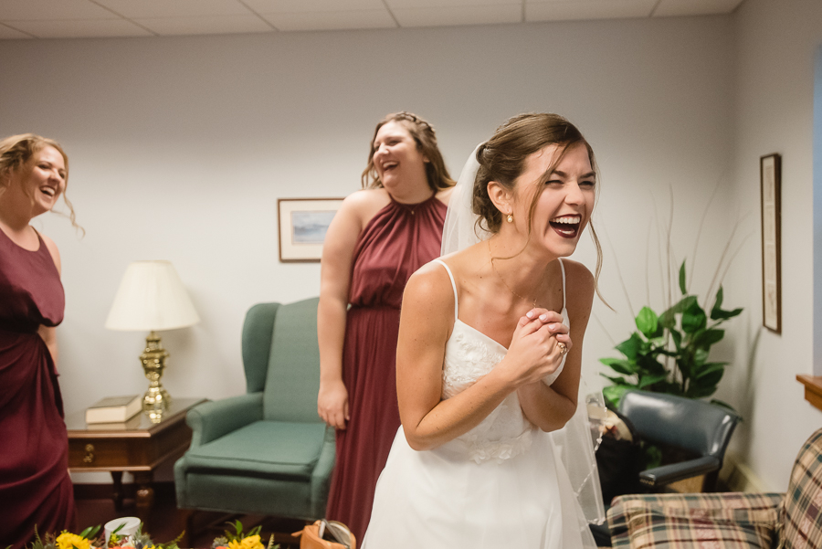 Bride Laughing Before the Wedding
