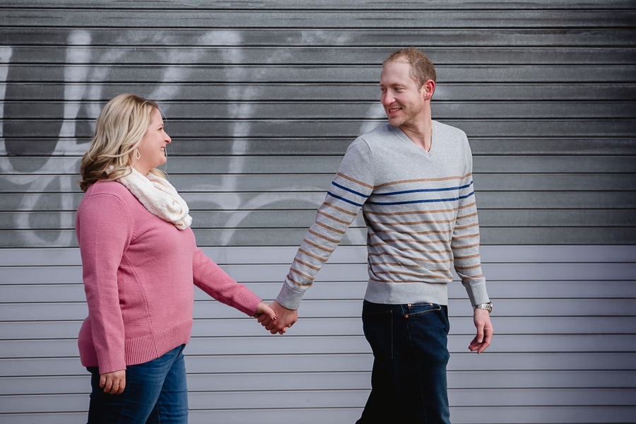 Pittsburgh engagement photos in the Strip District