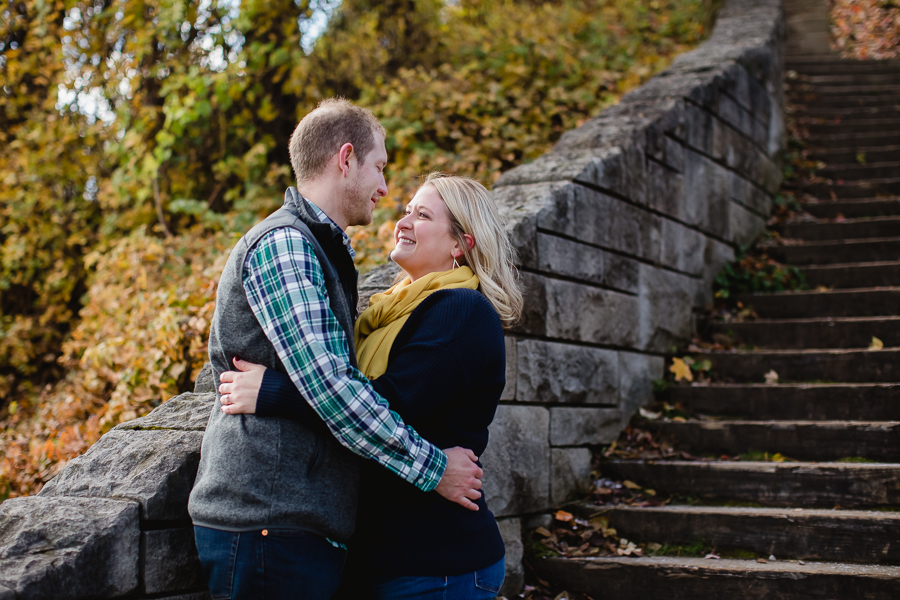 Washington's Landing Stone Steps Engagement Photos