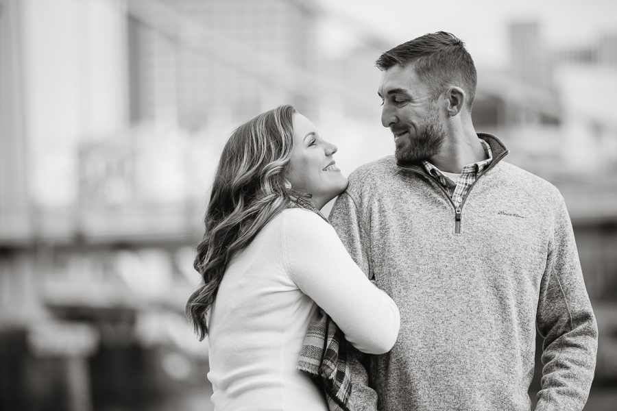 November Pittsburgh Engagement Photography North Shore