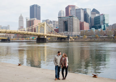 Stephanie & Brady's engagement session – Pittsburgh's North Shore